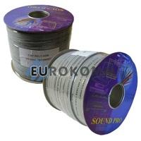Акустический кабель плоский 2x2.5мм² СU Sound PRO JY-6112 серый 100м