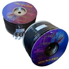 Акустический кабель круглый 2x3.0мм² СU Sound PRO JY-04519 черный 100м