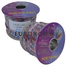 Акустический кабель круглый 2x1.2мм² СU Sound PRO JY-154 прозрачный 100м