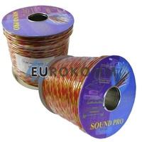 Акустический кабель круглый 2x1.5мм² СU Sound PRO JY-189 прозрачный 100м