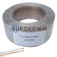Акустический кабель 2x0.34мм² СU Sound PRO JY-1230 прозрачный 100м
