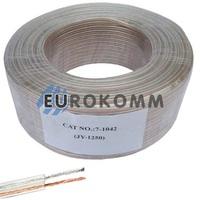 Акустический кабель 2x0.5мм² СU Sound PRO JY-1250 прозрачный 100м