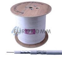 Коаксиальный кабель RG-6 EUROSAT TCF660BV CU белый 305м