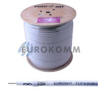 Коаксиальный кабель RG-6 EUROSAT TCF690BV CU белый 305м