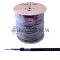 Коаксиальный кабель RG-6 EUROSAT F660BVF CCS н-ный с гелем, черный 305м