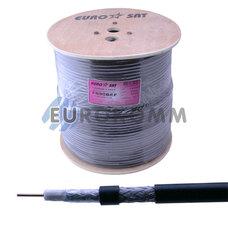 Коаксиальный кабель RG-6 EUROSAT F690BEF CCS н-ный с гелем, черный 305м