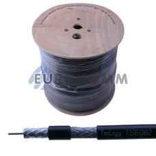 Коаксиальный кабель RG-6 Trilogyc TY6062 CCS н-ный с гелем, черный 305м
