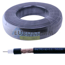 Коаксиальный кабель PK-75-4-11 черный 200м