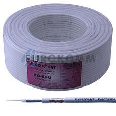 Коаксиальный кабель RG-59 EUROSAT 3C2V-/32Cu CU белый 100м