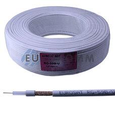 Коаксиальный кабель RG-59 B/U EUROSAT CU белый 200м