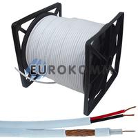 Коаксиальный кабель RG-59+2*0.5 CommSpace CU белый 305м