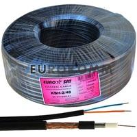 Коаксиальный кабель 3C2V+2х0.51 EUROSAT KBH-2/48 черный 100м