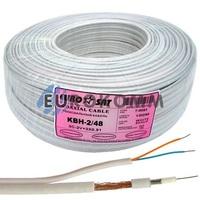 Коаксиальный кабель 3C2V+2х0.51 EUROSAT KBH-2/48 белый 100м