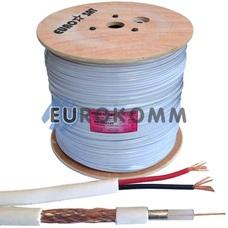 Коаксиальный кабель RG-59+2*0.75 EUROSAT CU белый 305м