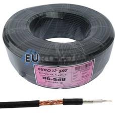 Коаксиальный кабель RG-58U/64CCa EUROSAT CU черный 100м