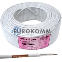 Коаксиальный кабель RG-58U/64CCa EUROSAT CU белый 100м