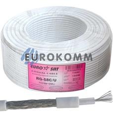 Коаксиальный кабель RG-58C/U EUROSAT TCF5812MU белый 100м