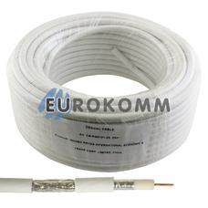 Коаксиальный кабель RG-6 EPLEX F603ST CCS белый 25м