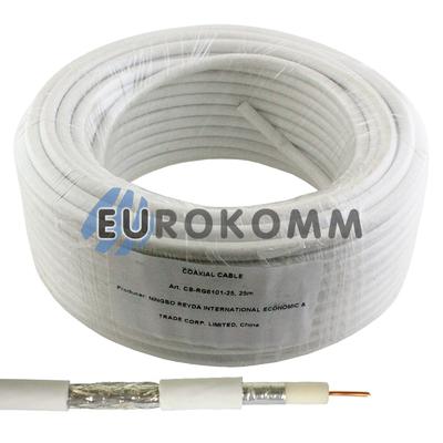 Коаксиальный кабель RG-6 EPLEX F603ST белый 25м