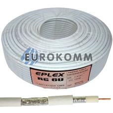 Коаксиальный кабель RG-6 EPLEX F603ST CCS белый 100м
