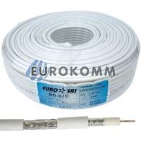 Коаксиальный кабель RG-6 EUROSAT F604ST CCS белый 100м