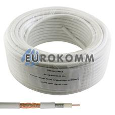 Коаксиальный кабель RG-6 EUROSAT F604ST CCS белый 25м