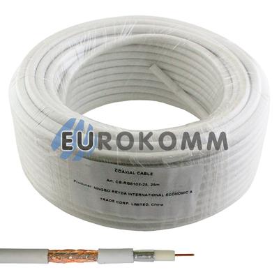 Коаксиальный кабель RG-6 EUROSAT F604ST белый 25м