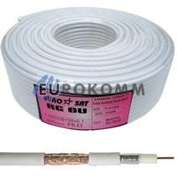 Коаксиальный кабель RG-6 EUROSAT CF603ST CCS белый 100м