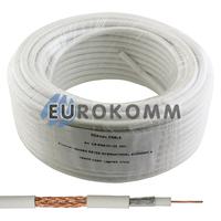 Коаксиальный кабель RG-6 EUROSAT CF609ST CCS белый 25м