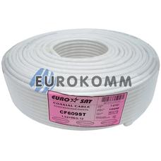 Коаксиальный кабель RG-6 EUROSAT CF609ST CCS белый 100м