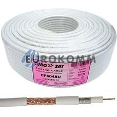 Коаксиальный кабель RG-6 EUROSAT CF604SU CU белый 100м