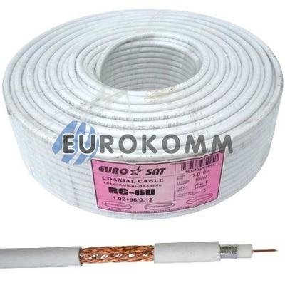 Коаксиальный кабель RG-6 EUROSAT CF609SU белый 100м