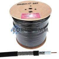 Коаксиальный кабель RG-6 EUROSAT F660BV CCS черный 305м