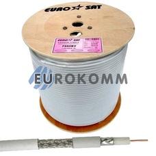 Коаксиальный кабель RG-6 EUROSAT F660BV CCS белый 305м