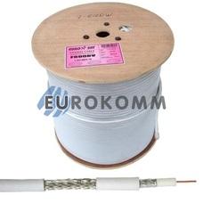 Коаксиальный кабель RG-6 EUROSAT F690BV CCS белый 305м