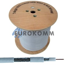 Коаксиальный кабель RG-6 Trilogyc TY6003 CCS белый 305м