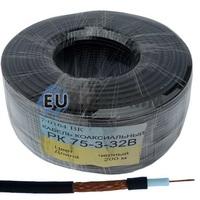 Коаксиальный кабель РК 75-3-32В CU черный 200м
