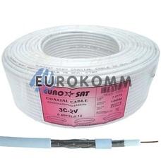 Коаксиальный кабель RG-59 EUROSAT 3C2V-/32AL CCS белый 100м