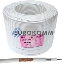 Коаксиальный кабель RG-59 EUROSAT 3C2V-/64CCa CU белый 300м