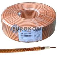Коаксиальный кабель RG-6 CommSpace CF606ST CCS прозрачный 100м