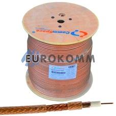 Коаксиальный кабель RG-6 CommSpace CF606ST CCS прозрачный 305м