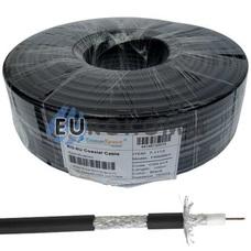 Коаксиальный кабель RG-6 CommSpace F660BVF CCS н-ный с гелем, черный 100м