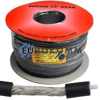 Микрофонный кабель Sound Star 1x0.22 мм² TinCu черный 100м