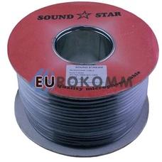 Микрофонный кабель Sound Star 2x0.17 мм² CCA черный 100м