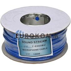 Микрофонный кабель Sound Stream 2x0.17 мм² OFC CU синий 100м
