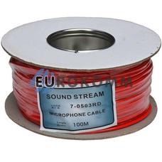 Микрофонный кабель Sound Stream 2x0.17 мм² OFC CU красный 100м