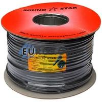 Микрофонный кабель Sound Star 2x0.28 мм² OFC CU черный 100м