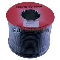 Микрофонный кабель Sound Star 2x0.28 мм² CCA черный 100м