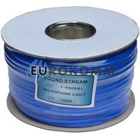 Микрофонный кабель Sound Stream 2x0.28 мм² OFC CU синий 100м