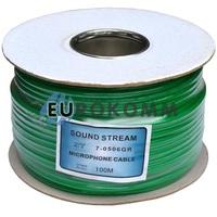 Микрофонный кабель Sound Stream 2x0.28 мм² OFC CU зеленый 100м